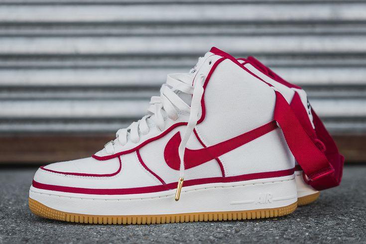 "Nike Air Force 1 07 LV8 ""Vandal-ized"" White/Gym Red - EU Kicks: Sneaker Magazine"