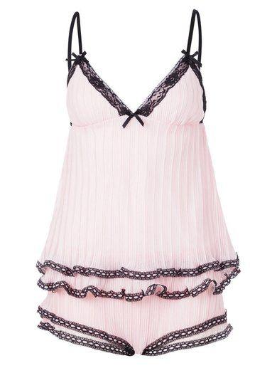 BlueBella ANAIS  Piżama pink/black