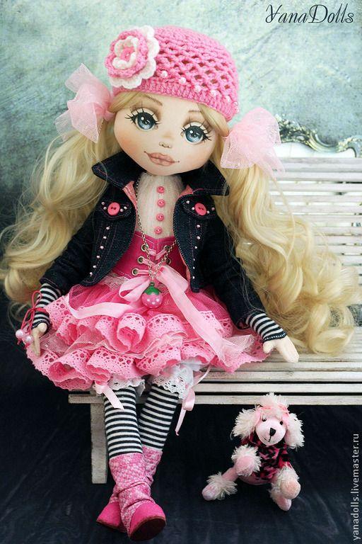 Элис - фуксия,кукла ручной работы,кукла,кукла в подарок,кукла интерьерная