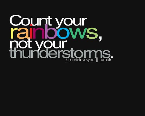 rainbows :)
