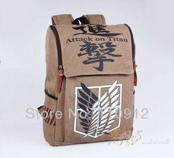 Online Shop NEW Anime Attack on Titan / Shingeki no Kyojin Scouting Legion Cosplay Backpack Bag Free shipping Aliexpress Mobile