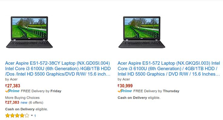 Acer Aspire ES1-572 Laptop Price in India | FlipHotDeals