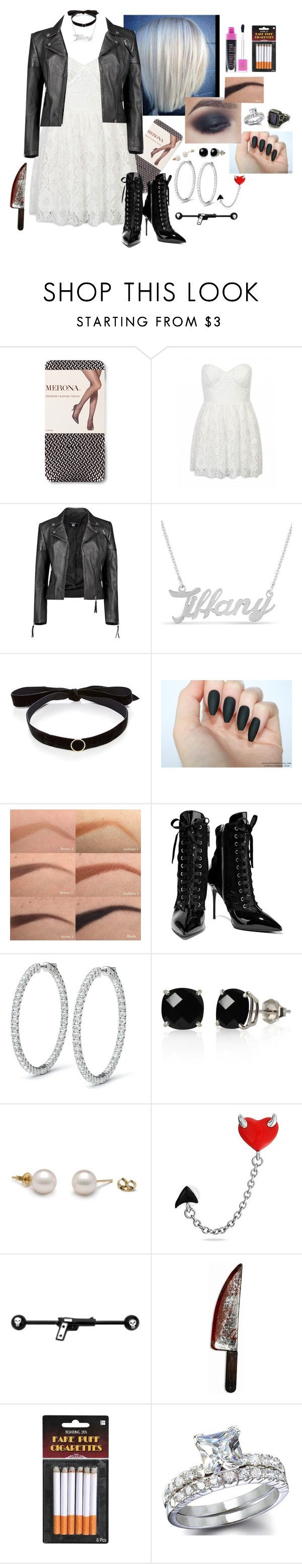 """wbtgc!brie ~ tiffany (bride of chucky)"" by zoemund ❤ liked on Polyvore featuring Boohoo, Mateo, Jeffree Star, Giuseppe Zanotti, Belk & Co. and Bling Jewelry"
