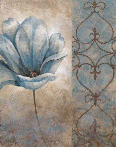 Blue poppy painting