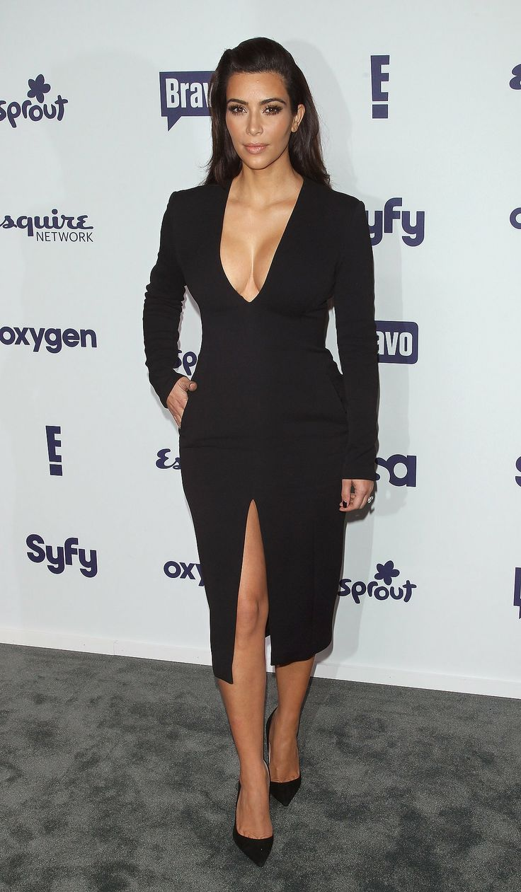 Kim Kardashian in Wes Gordon at the NBCUniversal Upfront presentation.