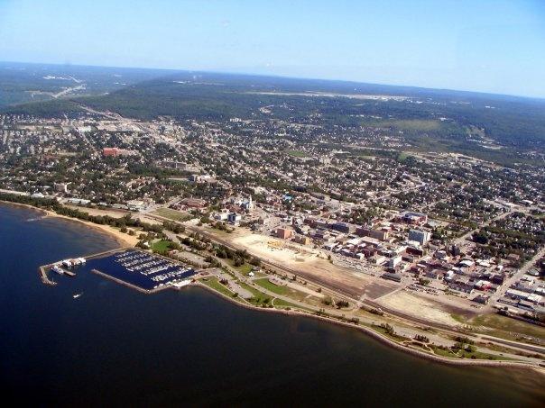 Aeriel view of North Bay