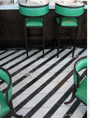 Cecconi's, London   striped floor