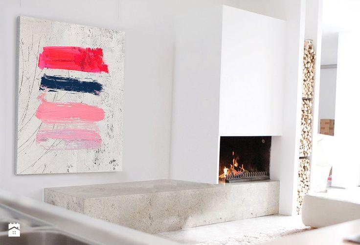 Obraz akryl 18 Abstrakcja W140xS100cm - zdjęcie od Iwona Bilska 2 - Salon - Styl Nowoczesny - Iwona Bilska 2