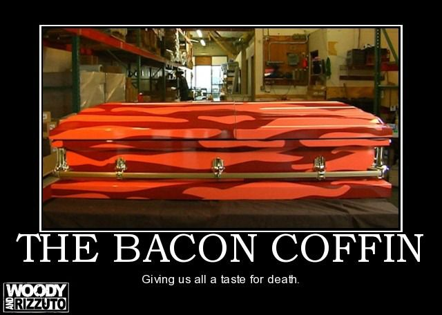 Bahahaha....: Bacon Air, Air Freshener, Bacon Casket, Things Baconi, Death, Bacon Coffincom, Funny, Products, Bacon Wraps