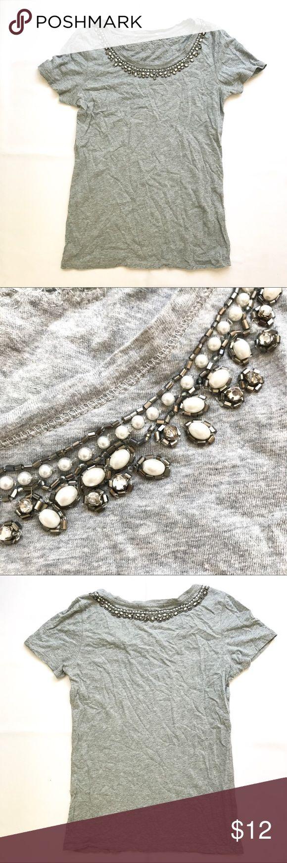 Lucky Brand tee Lucky Brand tee with collar embellishment Lucky Brand Tops Tees - Short Sleeve