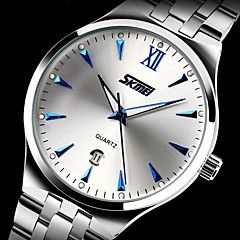 SKMEI Men's Dress Watch Quartz Japanese Quartz Calendar, Water Resistant,  Stainless Steel Band. Best cheap watches are cool watches too. You can buy best watches under 100 dollars. Very affordable watches and mens watch under 100. Best affordable watches - these are amazing watches below 100 bucks,  and affordable mens watches too.