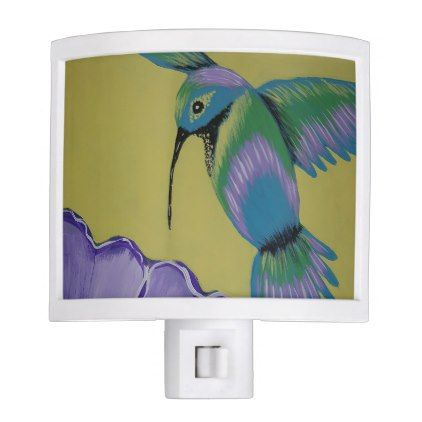 #Humming Bird Yellow Night Light - #giftideas for #kids #babies #children #gifts #giftidea
