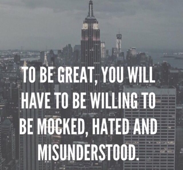 To be great you will face criticism. Great people will offer you encouragement, inspiration, and motivation.