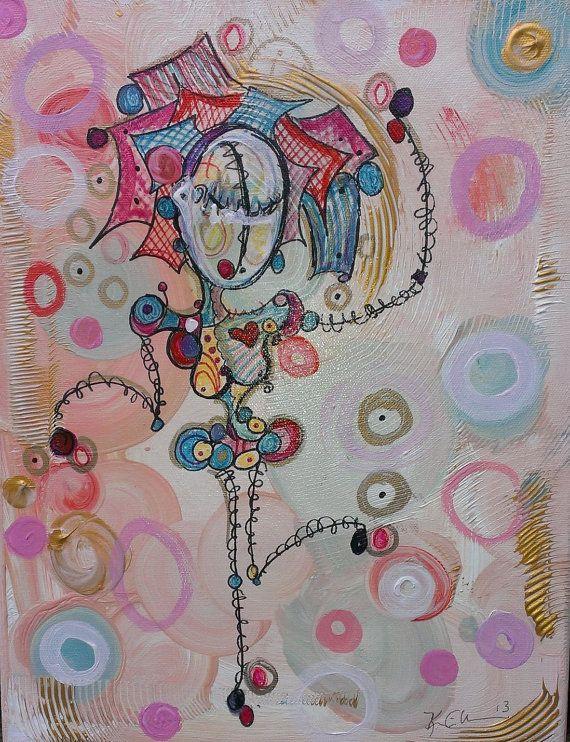 Kim Dean Art Etsy listing https://www.etsy.com/listing/174066003/shake-it-sister-11x14-original-canvas