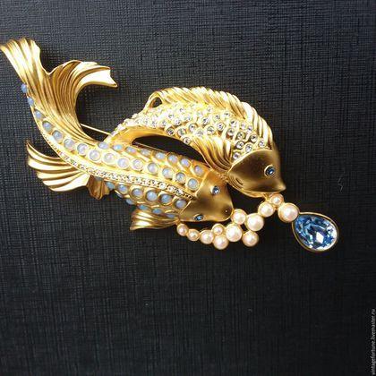 Купить Элизабет Тейлор Брошь Elizabeth Taylor for Avon - золотой, винтажные украшения