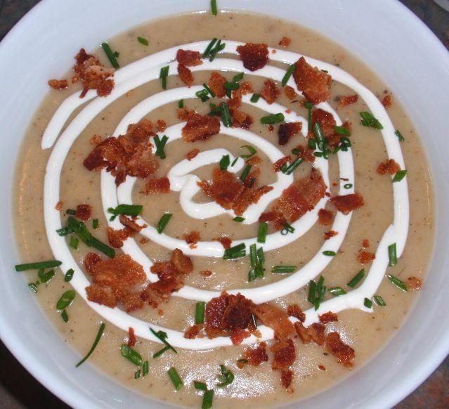 potato, leek & bacon soup. | FOOD! | Pinterest