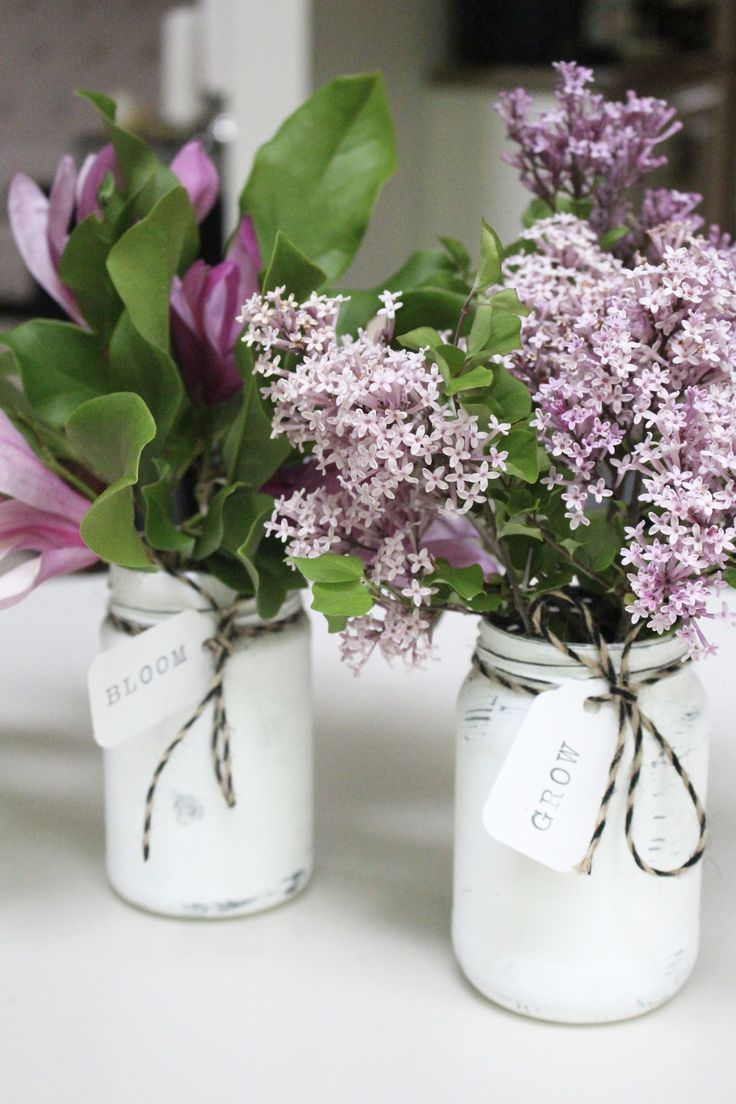 Distressing jars to make farmhouse vases is a simple DIY project. Using  pickle jars, I created pretty little flower jars for spring. - Diy Home  Crafts