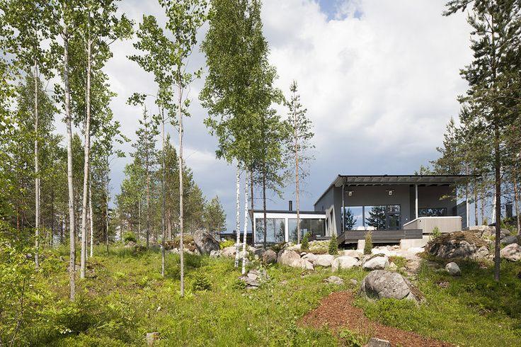 Lammi-Kivitalo Validus Motus on suunniteltu luonnon keskelle, lisää ideoita www.lammi-kivitalot.fi