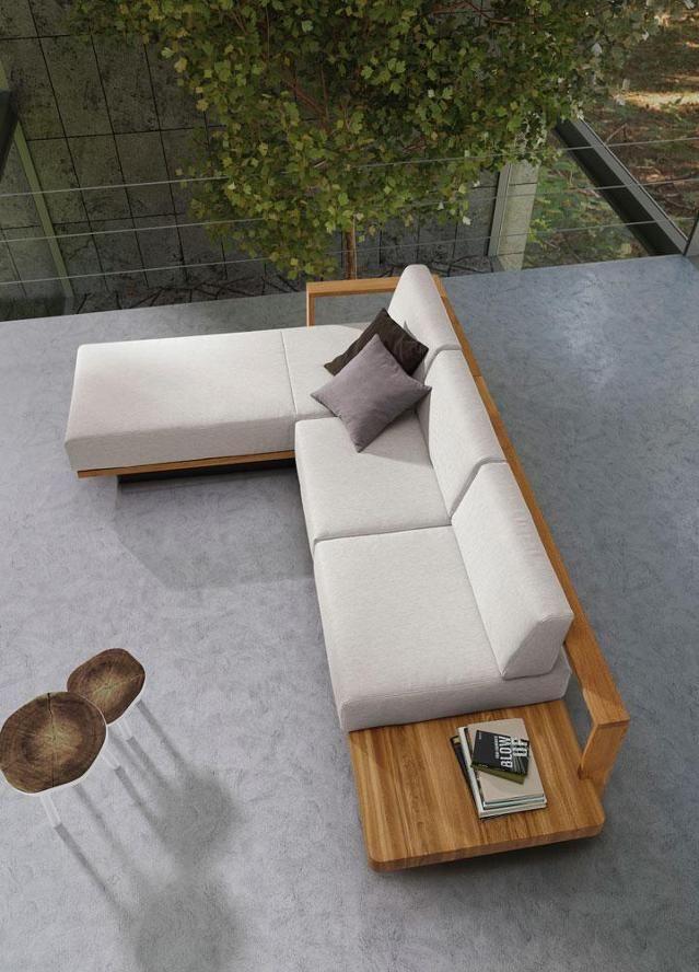 Modernes Sofa mit Vollholzrahmen #sofa #wohnlandschaft ©ADA Möbelwerke