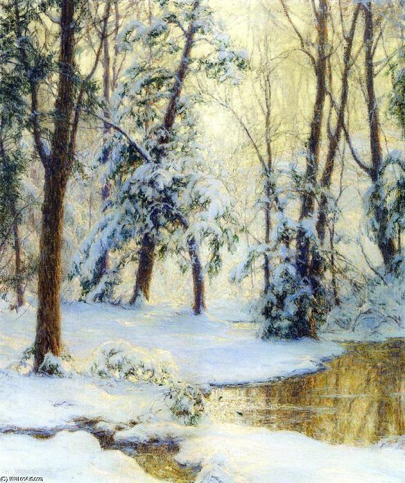 Piscine Woodland, huile sur toile de Walter Launt Palmer (1854-1932, United States)