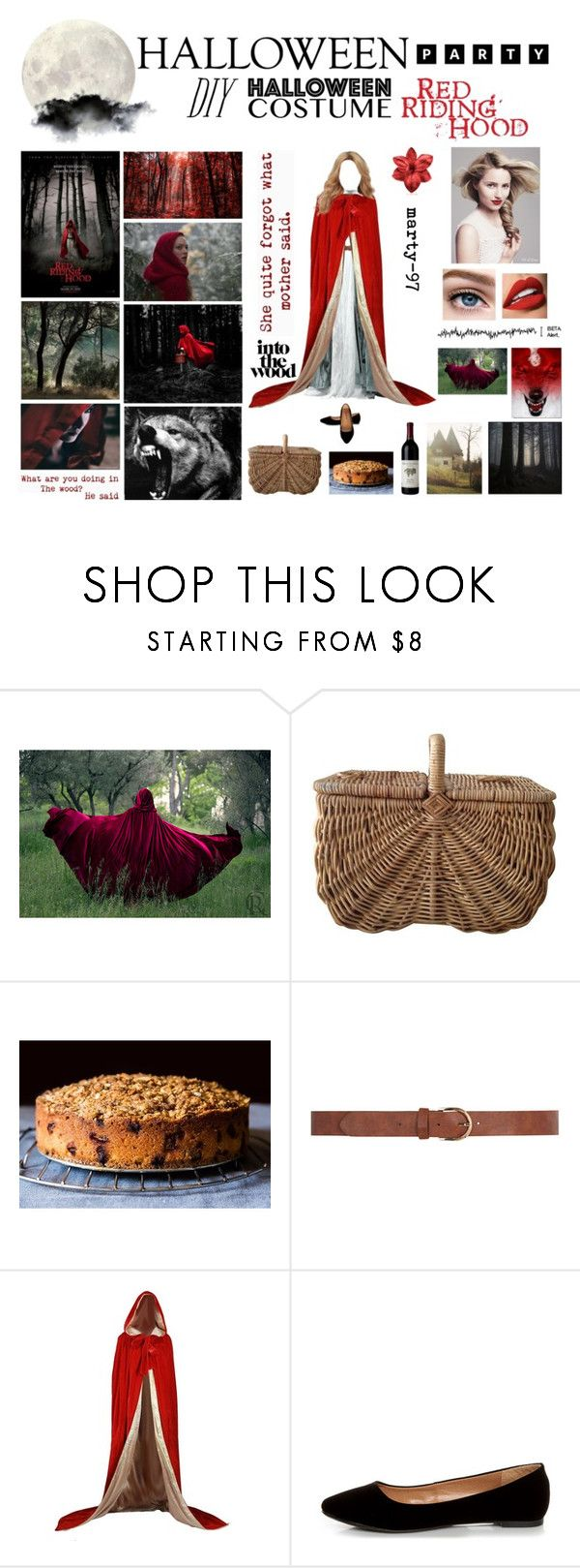Halloween Party: Red Riding Hood!! by marty-97 on Polyvore featuring moda, City Classified, Classified, Dorothy Perkins, Sephora Collection and Vanity Fair