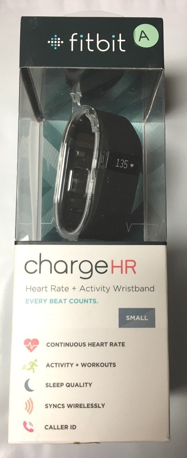 Fitbit Charge HR Heart Rate Activity Sleep Wristband Tracker Small Black RETAIL