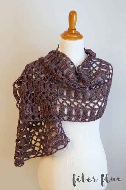 Free Crochet Pattern...Raspberry Tweed Shawl (Fiber Flux ...