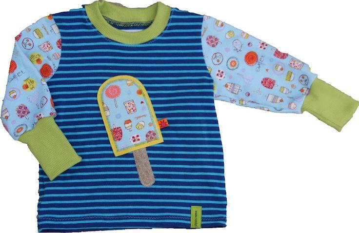 ...haben sich auf ein paar Shirts breit gemacht und verbreiten Vorfreude auf Sommer, Sonne und mehr...   Als erstes ein T-Shirt in Größe 92 ...