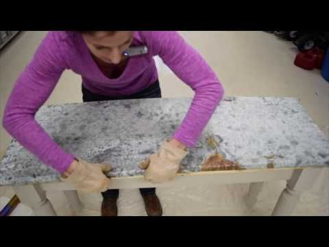 DIY Aged Galvanized Steel Wrapped Table Top - for fish table.