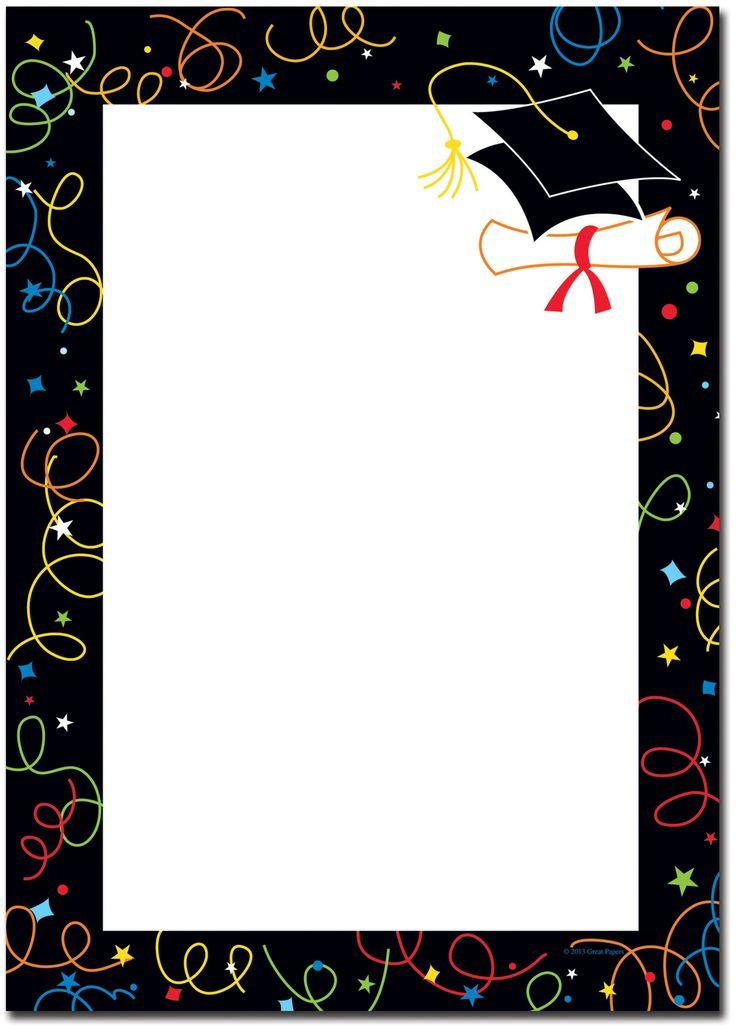 Graduation Borders Graduation | GRAD | Pinterest | Art ...Red Graduation Borders