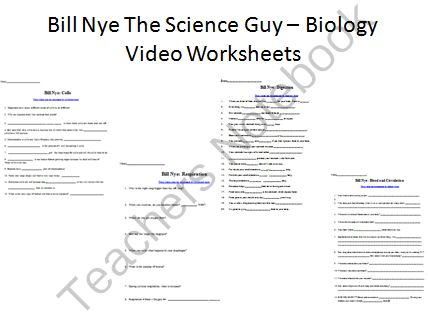 bill nye video worksheets four biology cells and body systems from teach with fergy on. Black Bedroom Furniture Sets. Home Design Ideas