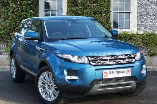 Used 2013 (63 reg) Blue Land Rover Range Rover Evoque 2.2 SD4 Prestige 5dr Auto [Lux Pack] for sale on RAC Cars