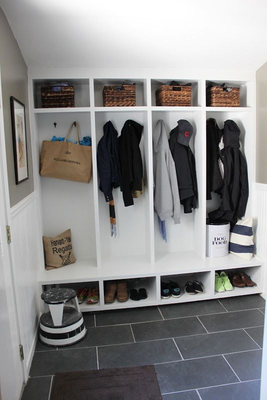 For Laundry Room; for when Laundry is folded (or needing to be hung to dry) - everyone has their own cubby!