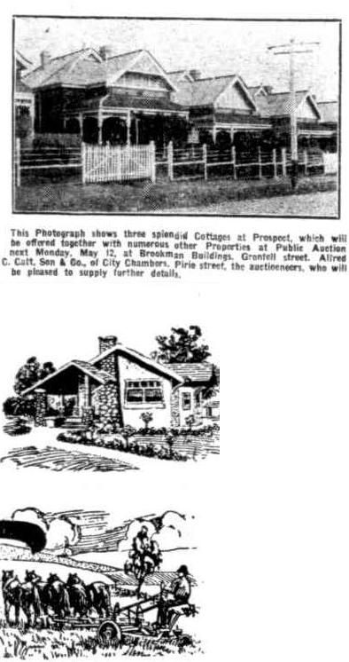 The Register (Adelaide, SA : 1901 - 1929), Thursday 8 May 1924, page 6, Cottages at Prospect - Above - Address Unknown