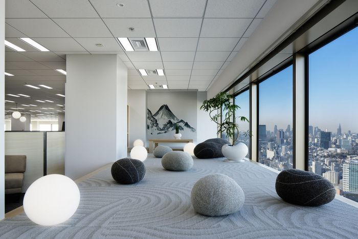 Office Tour Indeed Offices Tokyo Zen Office Office Interiors
