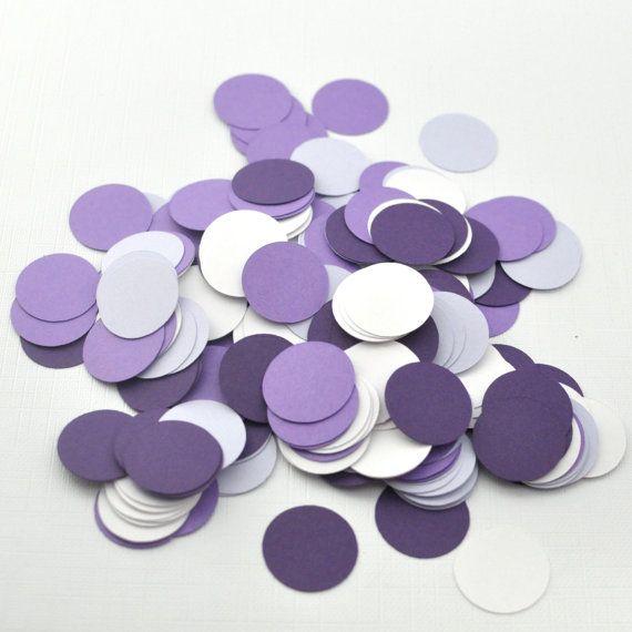 Shades of Purple Wedding Confetti Decor  Party door MistyandMe, $4.50