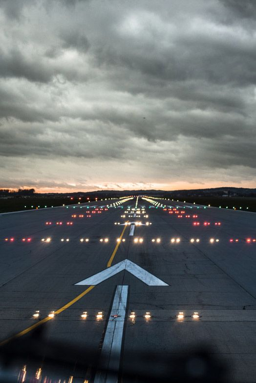 I've always found airport runways exciting-- the beginning of adventure.