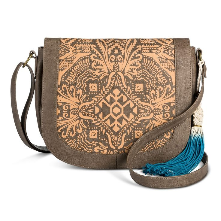 T-Shirt & Jeans Women's Laser Peel Saddle Handbag - Taupe Brown