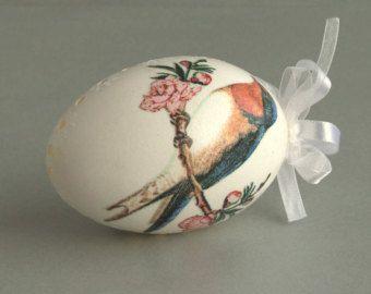 Decorado de huevo de ganso, Pascua huevos Pysanky, huevos pintados, perforados huevos de ganso, arte huevo, huevo decoración, adorno de huevo, cáscara de huevo, decoración de Pascua