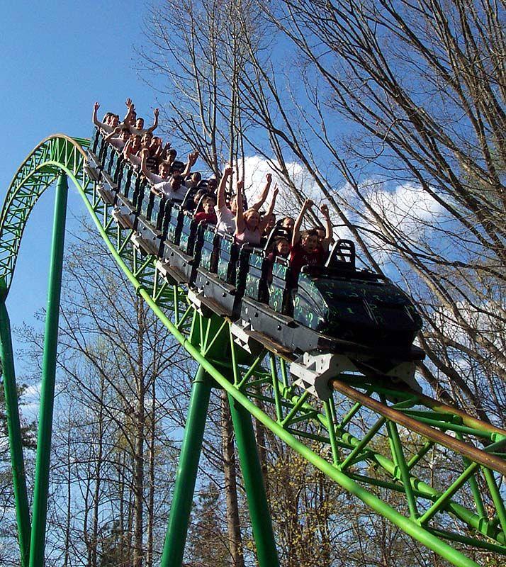 mind bender roller coaster | Parques de Diversão: Six Flags Over Georgia