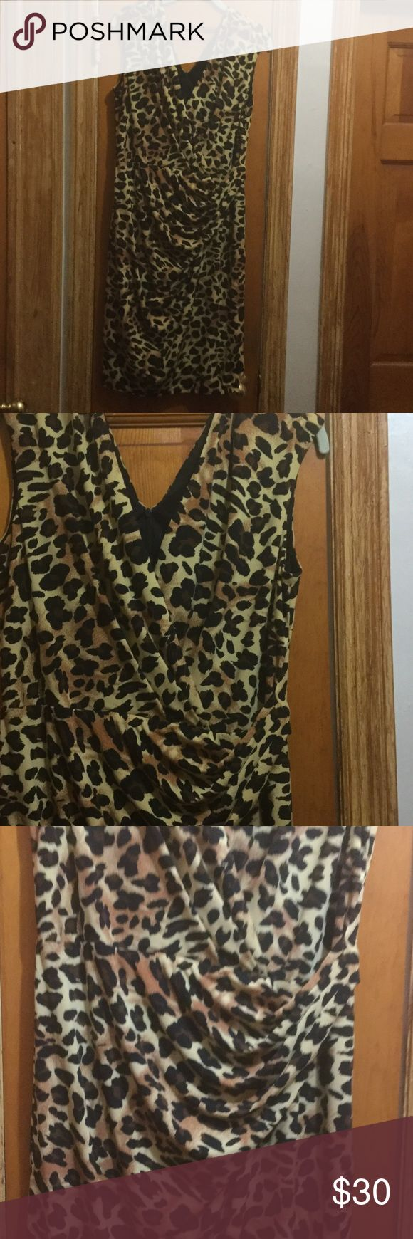 Cheetah dress by Chetta B Only worn once Cheeta B Dresses