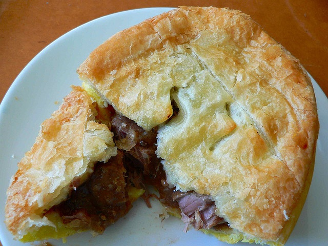 A cross between a pot pie and an empanada, meat pies are New Zealand's premier fast food.