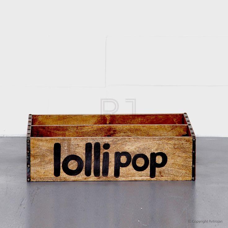 Blake Industrial Wooden Tray - Lollipop | RP: $39.00, SP: $29.00