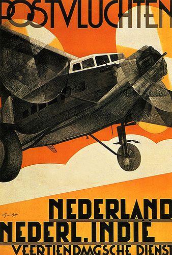 Dutch. Air Travel Poster