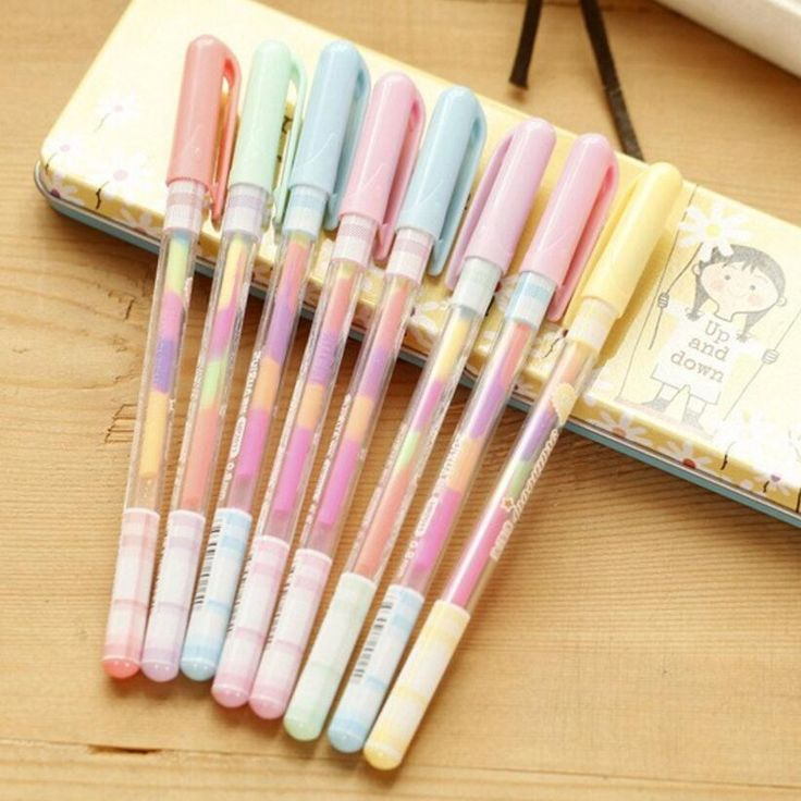 8 Pcs DIY Cute Kawaii Water Color Chalk Paint Gel Pen for Kids Diary Decoration Scrapbooking Korean Stationery Free shipping #Affiliate