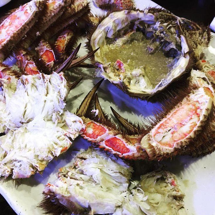 久々の毛ガニ 花咲ガニ食べてみたい #意外とグロテスク #毛ガニ #crab #濃厚 #かにみそ