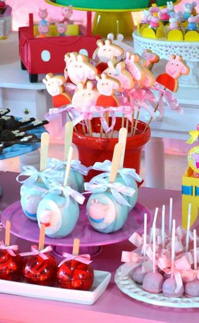 Peppa Pig Birthday Party treats! See more party planning ideas at CatchMyParty.com!