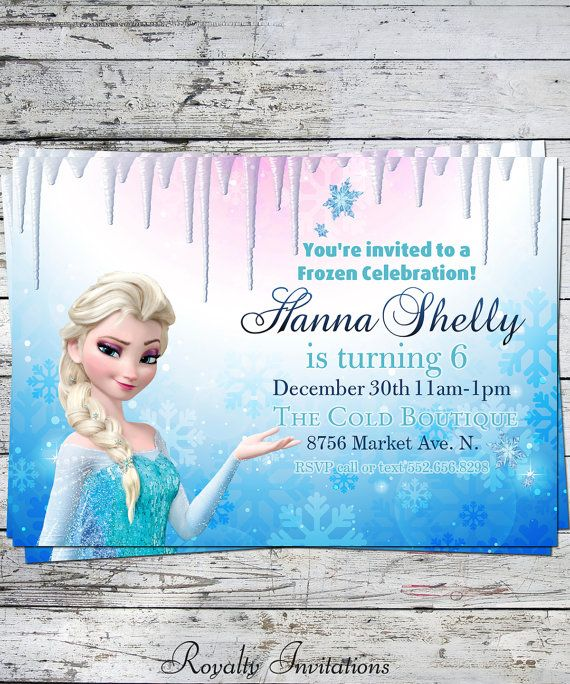 19 best frozen invitations images on pinterest frozen party disney frozen birthday party invitation kids by royaltyinvitations 500 stopboris Image collections