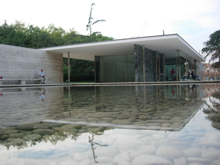 Barcelona Pavilion (1929, reconstructed 1986), Ludwig Mies van der Rohe