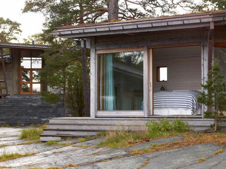 Fritidshus i Ytterskårgården | Skjutdörrar · Fönster · Dörrar | Hajom